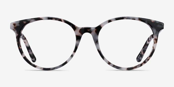 Solver Ivory Tortoise Acetate Eyeglass Frames from EyeBuyDirect, Front View