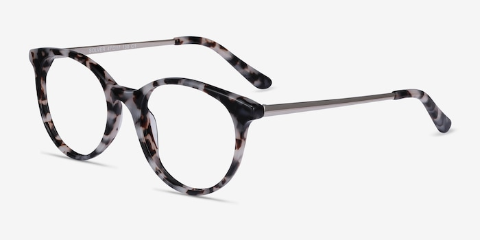 Solver Ivory Tortoise Acetate Eyeglass Frames from EyeBuyDirect, Angle View