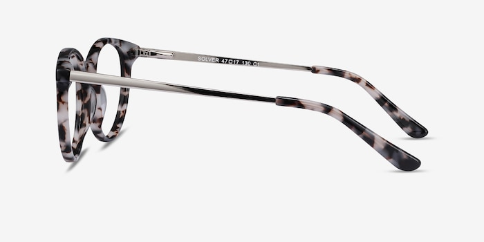Solver Ivory Tortoise Acetate Eyeglass Frames from EyeBuyDirect, Side View