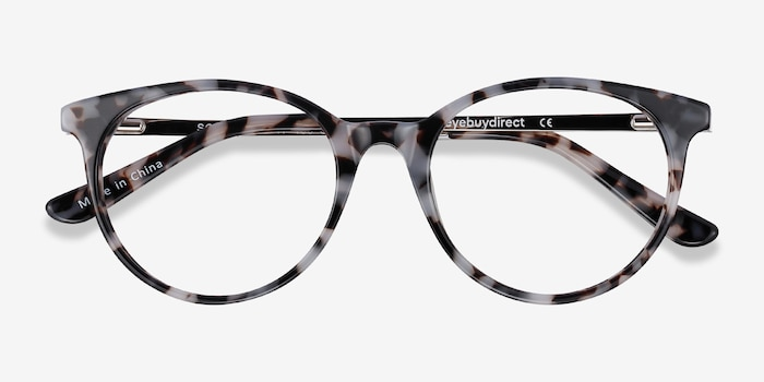 Solver Ivory Tortoise Acetate Eyeglass Frames from EyeBuyDirect, Closed View