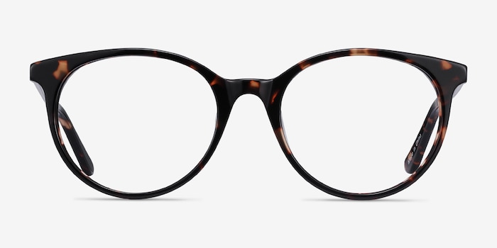 Solver Tortoise Acetate Eyeglass Frames from EyeBuyDirect, Front View