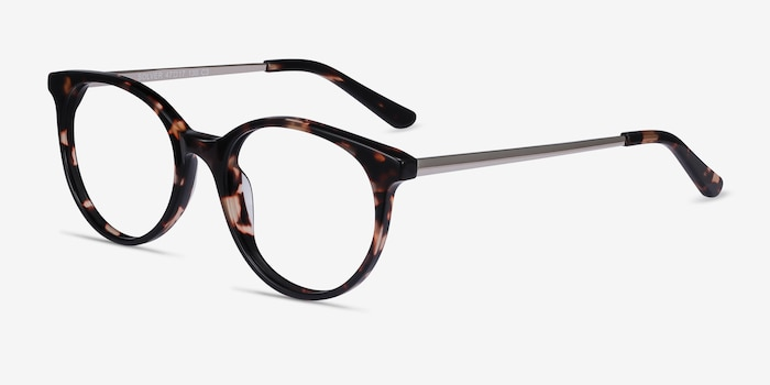 Solver Tortoise Acetate Eyeglass Frames from EyeBuyDirect, Angle View