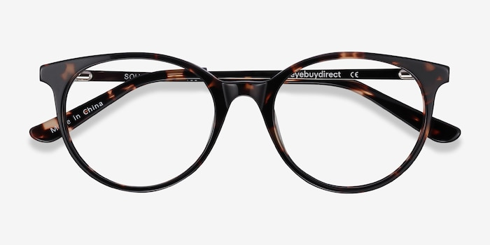 Solver Tortoise Acetate Eyeglass Frames from EyeBuyDirect, Closed View