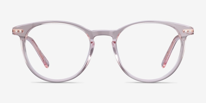 Snap Pink Acetate-metal Eyeglass Frames from EyeBuyDirect, Front View