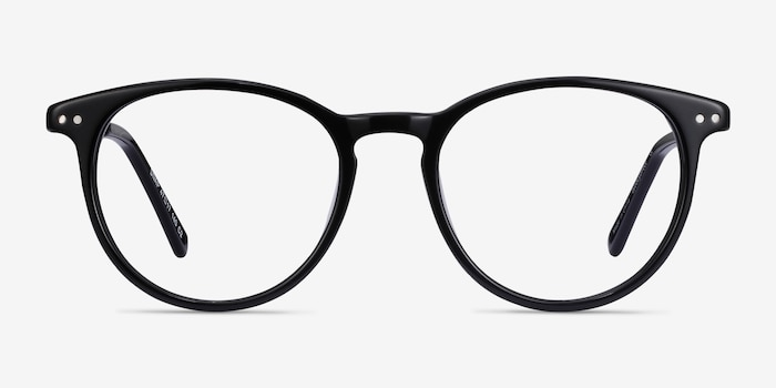 Snap Black Acetate-metal Eyeglass Frames from EyeBuyDirect, Front View