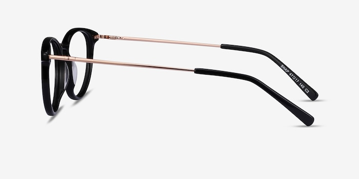Snap Black Acetate-metal Eyeglass Frames from EyeBuyDirect, Side View