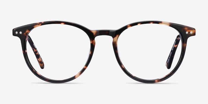 Snap Tortoise Acetate Eyeglass Frames from EyeBuyDirect, Front View