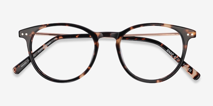 Snap Tortoise Acetate Eyeglass Frames from EyeBuyDirect, Closed View
