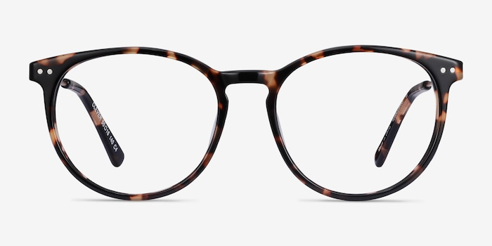 Clever Tortoise Acetate Eyeglass Frames from EyeBuyDirect, Front View