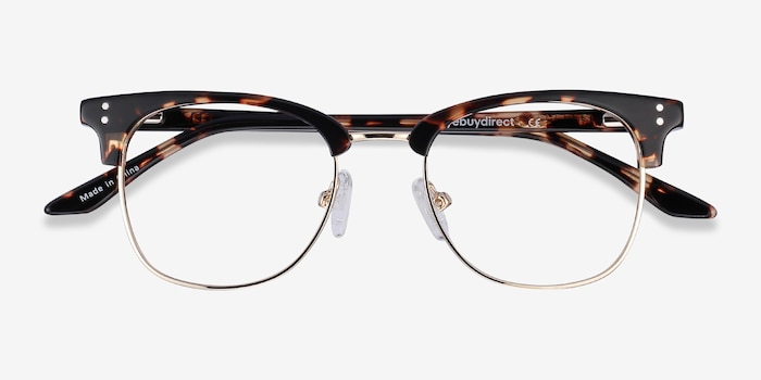 Freestyle Tortoise Metal Eyeglass Frames from EyeBuyDirect, Closed View