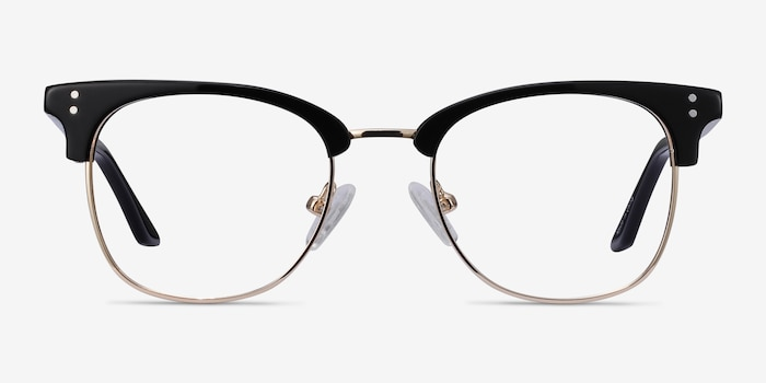 Freestyle Black Acetate-metal Eyeglass Frames from EyeBuyDirect, Front View