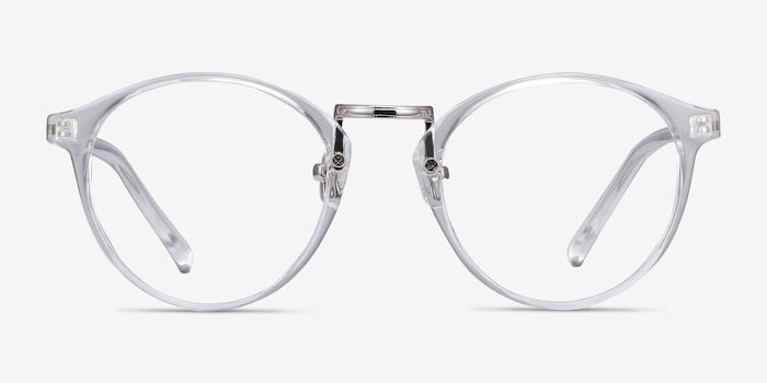 Small Chillax Clear Metal Eyeglass Frames from EyeBuyDirect, Front View