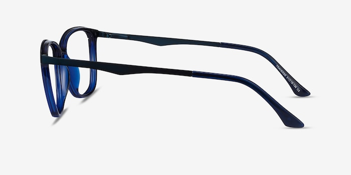 Traverse Navy Acetate-metal Eyeglass Frames from EyeBuyDirect, Side View
