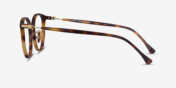 Aloft Light Tortoise Metal Eyeglass Frames from EyeBuyDirect, Side View
