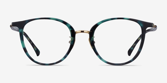 Aloft Green Floral Acetate Eyeglass Frames from EyeBuyDirect, Front View