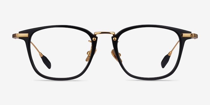 Terra Black Acetate Eyeglass Frames from EyeBuyDirect, Front View