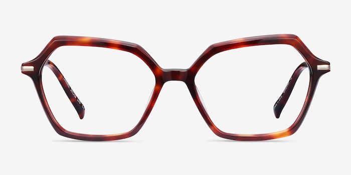 Carmel Tortoise Metal Eyeglass Frames from EyeBuyDirect, Front View