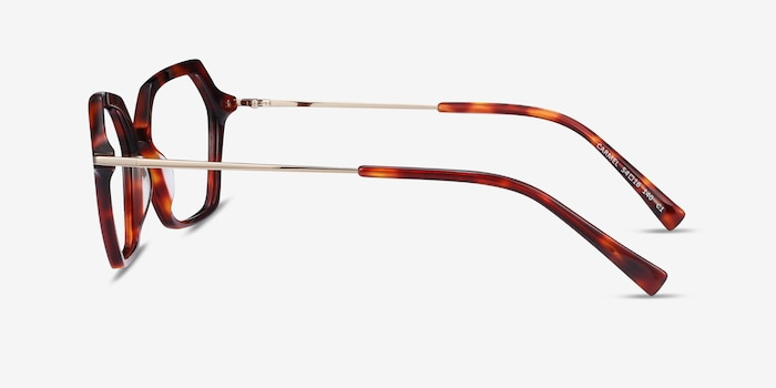 Carmel Tortoise Acetate Eyeglass Frames from EyeBuyDirect, Side View