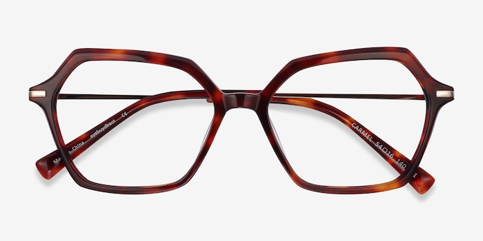 Carmel Tortoise Acetate-metal Eyeglass Frames from EyeBuyDirect, Closed View