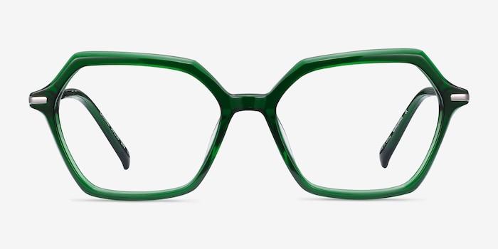 Carmel Green Acetate-metal Eyeglass Frames from EyeBuyDirect, Front View