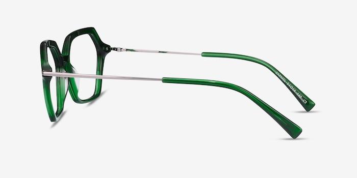 Carmel Green Acetate-metal Eyeglass Frames from EyeBuyDirect, Side View