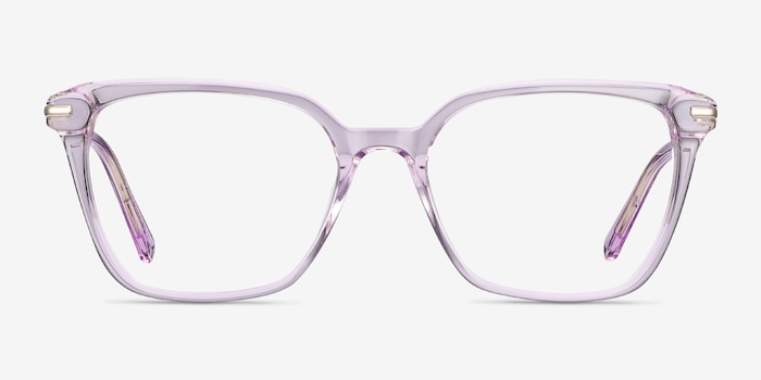 Dearly Purple Acetate-metal Eyeglass Frames from EyeBuyDirect, Front View