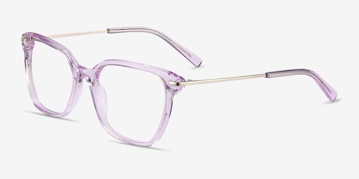 Dearly Purple Acetate-metal Eyeglass Frames from EyeBuyDirect, Angle View
