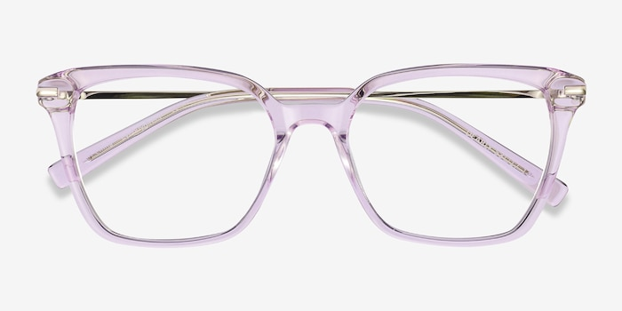 Dearly Purple Acetate-metal Eyeglass Frames from EyeBuyDirect, Closed View