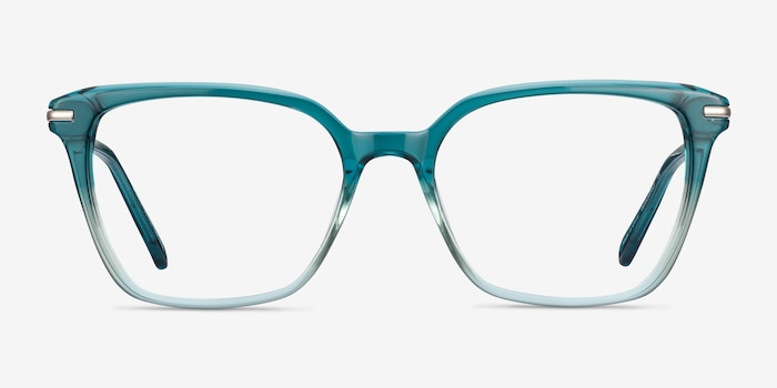 Dearly Green Acetate Eyeglass Frames from EyeBuyDirect, Front View