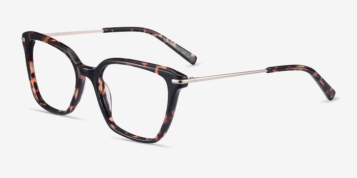 Dearly Tortoise Acetate-metal Eyeglass Frames from EyeBuyDirect, Angle View