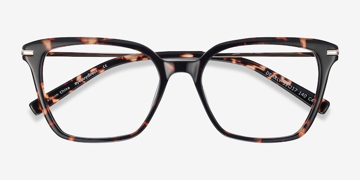 Dearly Tortoise Acetate-metal Eyeglass Frames from EyeBuyDirect, Closed View