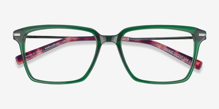 Sense Vert Acétate Montures de Lunette de vue d'EyeBuyDirect, Vue Rapprochée