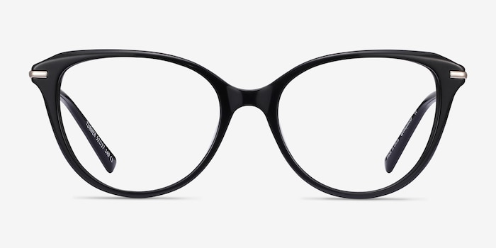 Turner Black Acetate-metal Eyeglass Frames from EyeBuyDirect, Front View