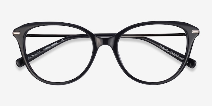 Turner Black Acetate-metal Eyeglass Frames from EyeBuyDirect, Closed View