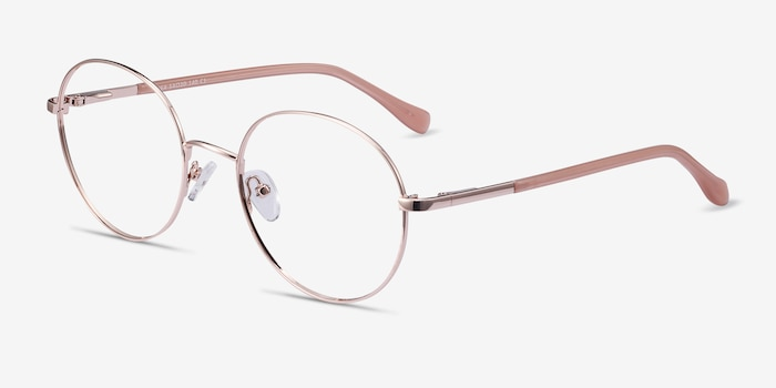 Thea Rose Gold Acetate-metal Eyeglass Frames from EyeBuyDirect, Angle View