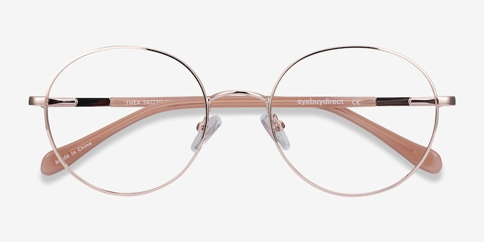 Thea Rose Gold Acetate-metal Eyeglass Frames from EyeBuyDirect, Closed View