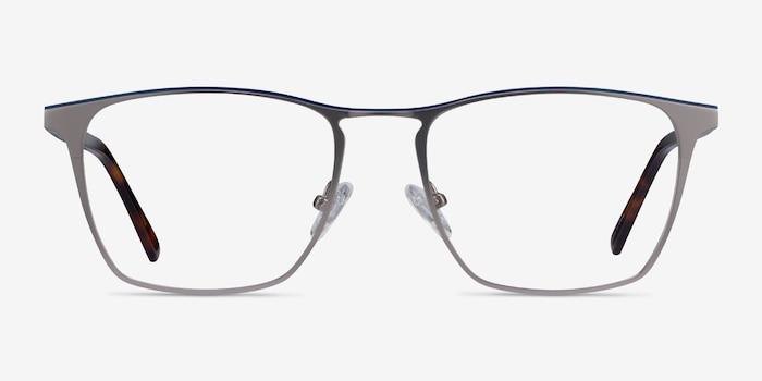 Jacob Gunmetal & Tortoise Metal Eyeglass Frames from EyeBuyDirect, Front View