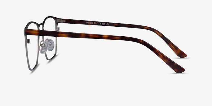 Jacob Gunmetal & Tortoise Acetate-metal Eyeglass Frames from EyeBuyDirect, Side View