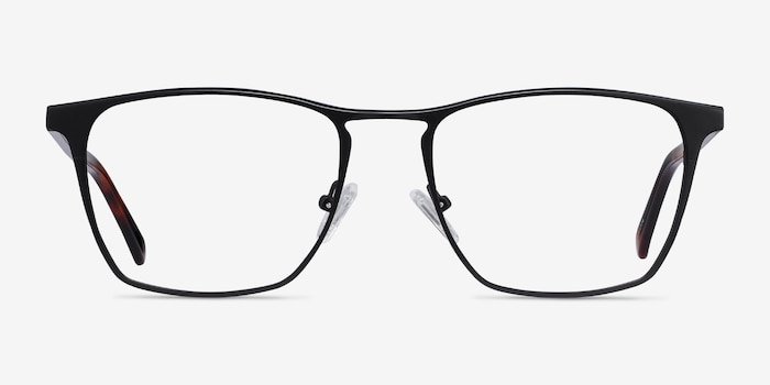 Jacob Black & Tortoise Acetate-metal Eyeglass Frames from EyeBuyDirect, Front View