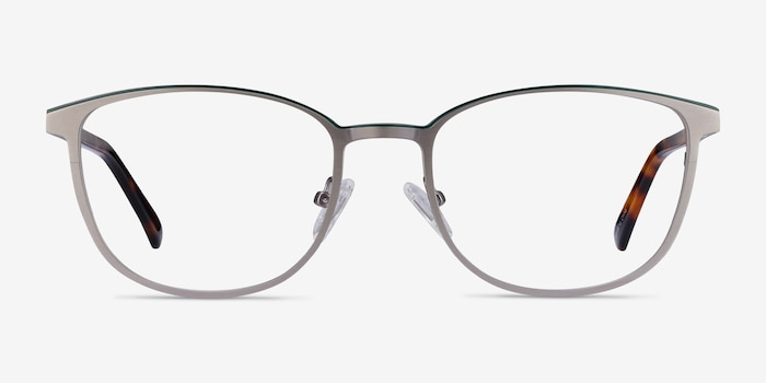 Guide Gunmetal & Tortoise Metal Eyeglass Frames from EyeBuyDirect, Front View