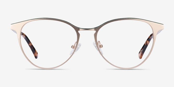 Vestige Gold & Tortoise Acetate Eyeglass Frames from EyeBuyDirect, Front View