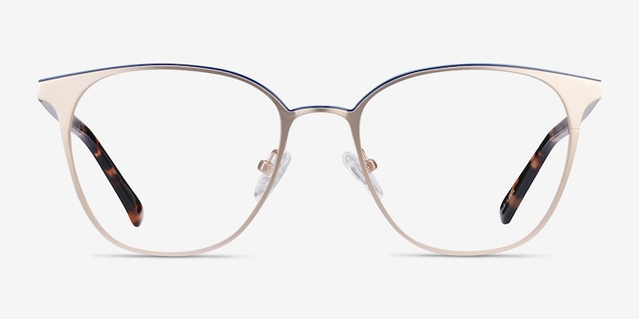 Azimut Gold Acetate Eyeglass Frames from EyeBuyDirect, Front View