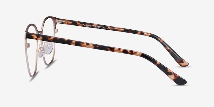 Azimut Gold Metal Eyeglass Frames from EyeBuyDirect, Side View