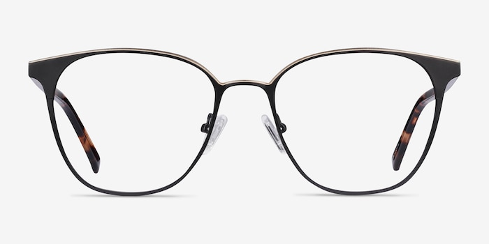 Azimut Black Acetate Eyeglass Frames from EyeBuyDirect, Front View