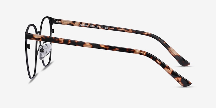 Azimut Black Acetate Eyeglass Frames from EyeBuyDirect, Side View