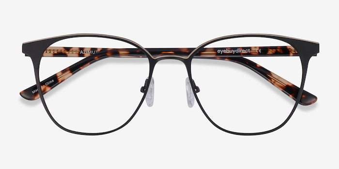 Azimut Black Acetate Eyeglass Frames from EyeBuyDirect, Closed View