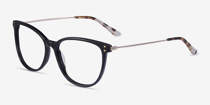 Nebulous Black Acetate-metal Eyeglass Frames from EyeBuyDirect, Angle View