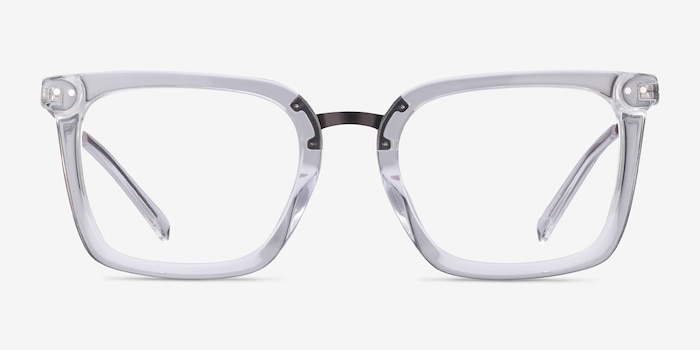 Poise Clear Metal Eyeglass Frames from EyeBuyDirect, Front View