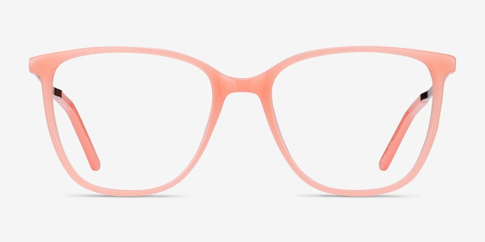 Aroma Coral Metal Eyeglass Frames from EyeBuyDirect, Front View