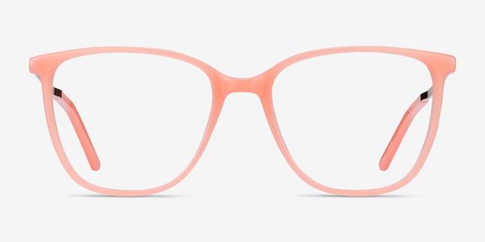 Aroma Corail Métal Montures de Lunettes d'EyeBuyDirect, Vue de Face